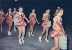 Esibizione atleti Skating CLub Mottense anno 1970