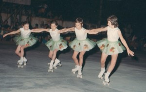 primo quartetto skating club mottense anno 1970