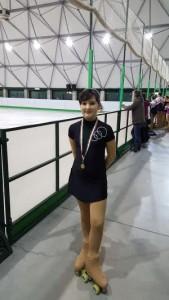 Arianna Puppin soddisfatta con la medaglia di Bronzo